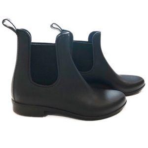 J. Crew Matte Black Chelsea Rain Boot Size 9